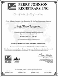 Iso 9001 2015 And As9100d Certified Letter